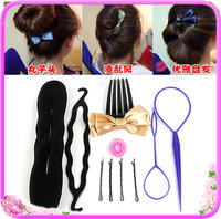 Fashion women girl Braider hair tool Elegant Cosmetology Disc Hair Device Six Piece Set Salon DIY
