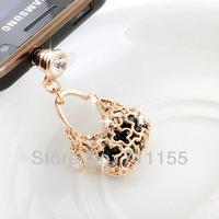 14K Real Gold Plated,100% AAA Quality,Health Metal Alloy,Dust Plug Cell Phone Accessories,Gold Bag Phone Jewelry,Min Order $10