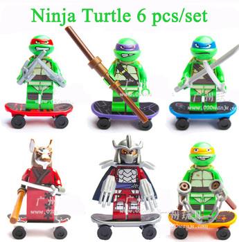 High Quanlity Turtles Figure 6pcs/set Decool 005X Children Educational Building Blocks toys Free Shipping