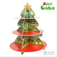 Free Shipping 2sets/lot christmas 3d puzzle,foam core