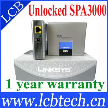Free Shipping!   Linksys Phone Adapter SPA3000,VoIP Gateway,IP ATA-unlock