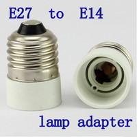 X10pcs/lot wholesale- High Quality  E27 to E14 Bulb Converter LED Light Lamp Adapter  Free shipping
