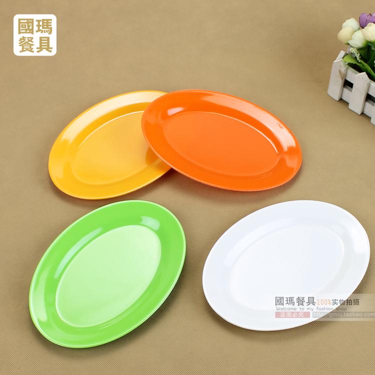Melamine melamine tableware plastic slab multicolour oval shape plate . & Melamine Plastic Plates. Gibson Studio 12 Piece Mauna Melamine ...
