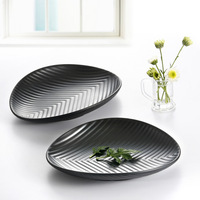 Melamine leaves shaped the plate quality japanese style sushi plate cooking plate mug-up dish plate