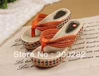 Free shipping--2013 Rainbow shoes cane makes up pinch flip-flops slippers