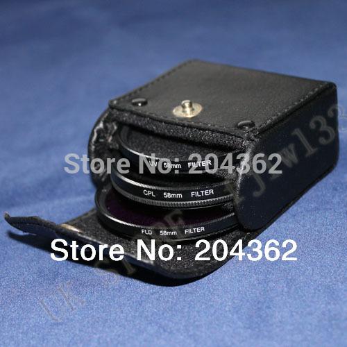 100 % Guarantee  tracking number  filter kit   67mm UV FLD CPL BAG Filter Set Polfilter for Nikon P500 P510