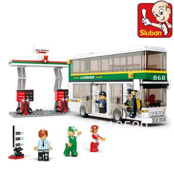Free Shipping City Bus Building Block Sets Model 403pcs Educational DIY Construction Bricks Toys Without Orignial Box