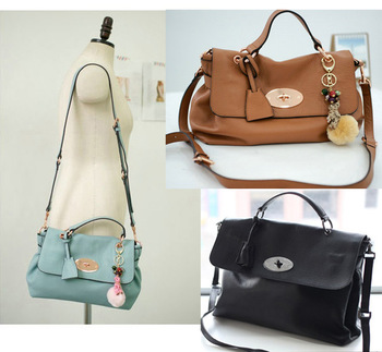 High Quality Cute Women Soft Leather Bags Genuine Leather Handbag Vintage Messenger Bag Korean style COWHIDE Totes Shoulder Bag