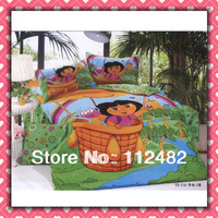 dora the explorer Cartoon Cotton children 3pcs Bedding Set Kid Bedding Free Shipping