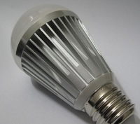 (100pcs/lot) E27 7W LED Lamp Bulb AC 85V-265V Cold White / Warm white LED Ball Bulb