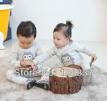 6sets/lot baby pajamas long sleeve sleepwear cartoon sleep set cartoon pyjamas shipping