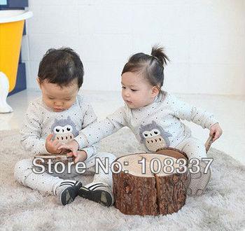 6sets/lot baby pajamas long sleeve sleepwear cartoon sleep set cartoon pyjamas shipping