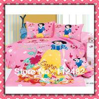 Snow white Cartoon Cotton children 3pcs Bedding Set Kid Bedding Free Shipping