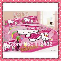 hello kitty Cartoon Cotton children 3pcs Bedding Set Kid Bedding Free Shipping