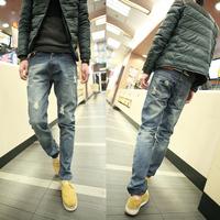 Opshacom 2013 super slim fashion light color hole jeans pants boys jeans