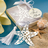 50pcs/lot Book Lover Collection Starfish Bookmark Wedding Favor