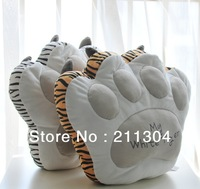 Free shipping 1 pec, tiger paw cushion, animal pillow, Stuffed Back Cushion Seat Cushion Plush Toy Retail best gift high quality