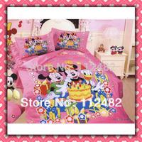 Cotton birthday mickey mouse children 3pcs Bedding Set Kid Bedding Free Shipping