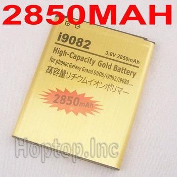 New 1x 2850mah GOLD High Capacity 3.8v Battery For Samsung Galaxy Grand DUOS I9082 I9080 Free Shipping