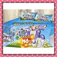 Tom & Jerry Blue children 3pcs Bedding Set Kid Bedding Free Shipping