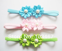 30sets/lot 15 colors  mini nice  pearl  flower baby headband new style lowest price