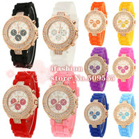 2013 New Arrival Geneva Rose Gold Case Luxury Crystal Watch Diamond Watch Fashion