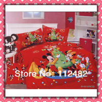 christmas mickey & minnie mouse children 3pcs Bedding Set Kid Bedding Free Shipping