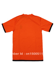 2013 European Cup Netherlands National Team home orange soccer uniforms Brand football jerseys Best soccer apparel Free Shipping(China (Mainland))
