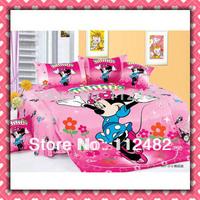Cotton dancing minnie mouse children 3pcs Bedding Set Kid Bedding Free Shipping