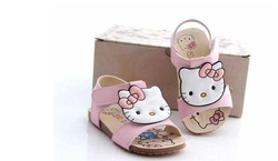 "Hot sell In stock "" Hello Kitty sandals Fashion kids shoes 5set/lot Children shoes(China (Mainland))"