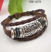 Punk leather bracelet fashion multi-layer leather bracelet male knitted lovers bracelet male Women