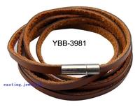 Women Punk Lovers Male Genuine Leather Bracelet Cowhide Twine Bracelets DS3981