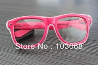 BRAND NEW LIGHT UP GLOW EL WIRE SUNGLASS GLASSES   5pcs/Lot