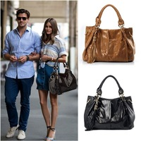 New Fashion POLO Women HOBO Leather Tote Clutch Purse Handbag Shoulder Bag