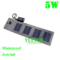 Portable Solar Charger For Mobile Phones+5watt Solar Panel Battery Charger+3xSolar Cells+USB Data Cable Charging Free Shipping