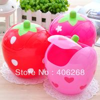 free shipping  wholesale cheap!!! Strawberry fashion desktop garbage bucket sundries storage bucket Waste Bins