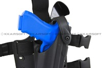 Safariland Tactical DropLeg Holster for Glock Airsoft with flashlight bd2289 free shipping