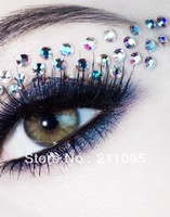 Punk Style Eye Rock Mix Match Crystal Eye Stickers Eyeliner Female Eye Shadow Stickers Tattoo Stickers With Diamond