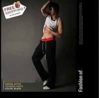 Free Shipping Hot Sales Pop Style Leisure Pants 3 Colors Men Sports Pants Men Trousers