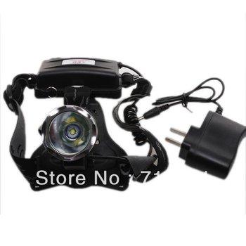 Cheap Wholesale 1pc/lot  Black 1800 Lumens CREE XML T6 LED Headlamp Rechargeable Headlight 710128