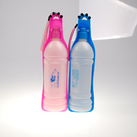 Pet travel portable water dispenser PP material outdoor water fountain Large dog drink bottle 350ml and 600ml to Sizes
