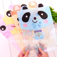 free shipping wholesale cheap!!!  stationery cute cartoon file bags transparent A4 Filing Products  file pouch