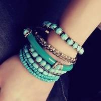 S018 vintage bracelet fashion bohemia national trend beaded multi-layer bracelet (can mixture order)