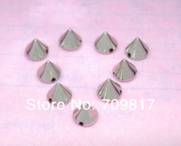 8*7mm Sewing Spikes Silver  Plastic Punk Rock leathercraft DIY Rivet/wholesale/Free Shipping 150pcs/lot GP008-7S CP