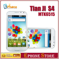 MTK6515  256M RAM+256M ROM Tinji(Tianji) S4 i9500  5.0 inch Android 4.1 Dual Camera 8.0 MP With Screen Protector  Free shipping