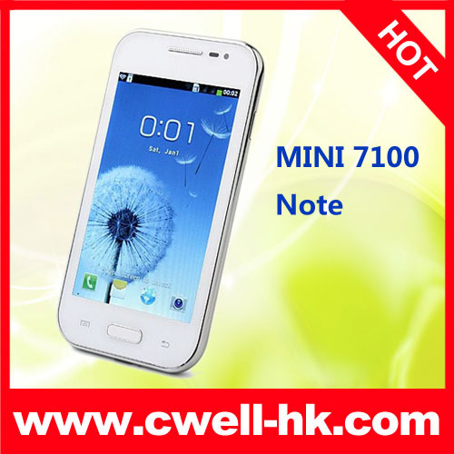 China Cheap MINI 7100 Note 4.0 inch Capactive Screen Dual Camera WIFI Smart Phone(China (Mainland))