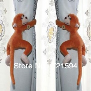Free Shipping 2pcs/lot Window Curtain Tieback Belt Hook/Long-tail Monkey Curtain Buckle Accessory Belt  furniture And Home Decor