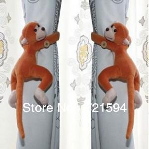 Free Shipping 2pcs/lot Window Curtain Tieback Belt Hook/Long-tail Monkey Curtain Buckle Accessory Belt furniture And Home Decor(China (Mainland))