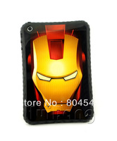 2013 New Arrival Cool Powerful The Invincible Iron Man Ironman Soft TPU Back Case Cover Protector For New Apple ipad mini P356