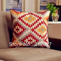 Free Shipping Boho Ethnic Asian Cotton Linen Cushion Cover Pillow Sham 45CM X45CM